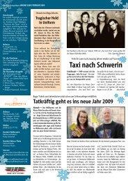 Taxi nach Schwerin Januar - Hauspost
