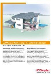 Luft/Wasser-Wärmepumpe für hohe Heizleistungen - Dimplex