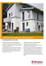 Hocheffizienz Luft/Wasser-Wärmepumpen