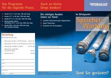 Speicher- Wartung Speicher- Wartung - Eisen Schmidt