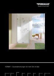 FORMAT – Duschabtrennungen für mehr Stil im Bad