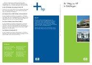Wegbeschreibung als Download (PDF, 84KB) - Hewlett Packard