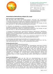 Kosmetische Behandlung mittels CO2-Laser dr ... - Hautarzt-basel.ch
