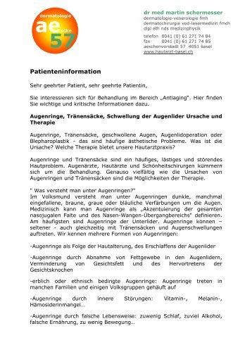 Patienteninformation - Hautarzt-basel.ch