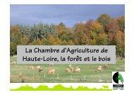 actions de la Chambre d'Agriculture sur la forêt et le bois