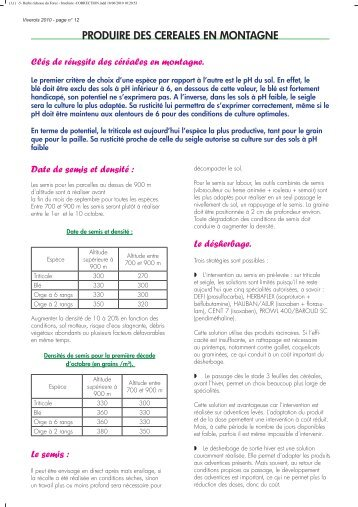Les m langes c r ales l gumineuses ou m teil sertad for Chambre agriculture indre