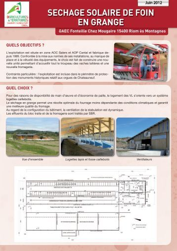 Exemple dans le cantal 60 kw chambre d 39 agriculture de - Chambre d agriculture du cantal ...