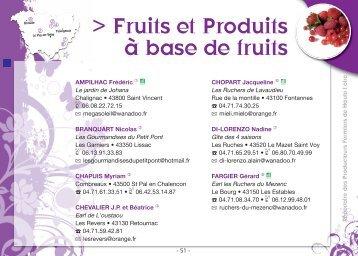 Fruits et produits à base de fruit - Chambre d'Agriculture de la Haute ...