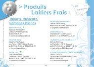 Produits laitiers frais - Chambre d'Agriculture de la Haute-loire