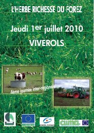 Herbe richesse du Forez - brochure - Chambre d'Agriculture de la ...
