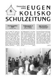 Zeitung Nr.6 - Eugen Kolisko Schule