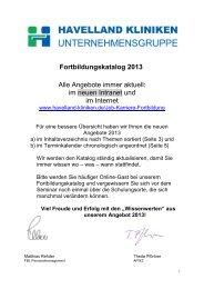 Download Flyer Fortbildung 2013 - Havelland Kliniken ...