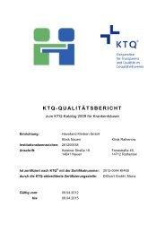 KTQ-QUALITÄTSBERICHT - Havelland Kliniken Unternehmensgruppe