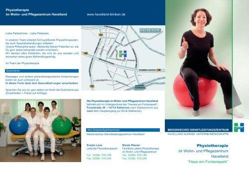 Download Flyer Physiotherapie - Havelland Kliniken ...