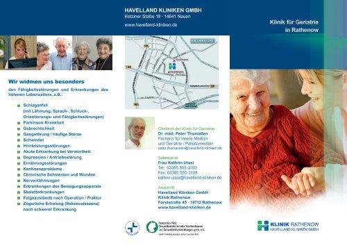 Download Flyer Geriatrie - Havelland Kliniken Unternehmensgruppe