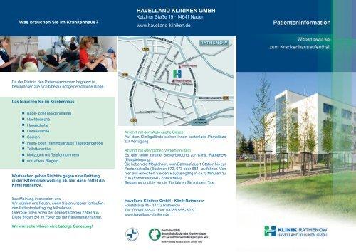 Download Flyer Patienteninformation - Havelland Kliniken ...