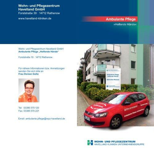 """Download Flyer """"Ambulante Pflege"""" - Havelland Kliniken ..."""