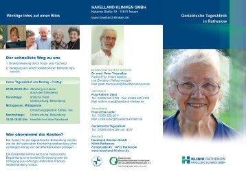 Download Flyer Geriatrische Tagesklinik - Havelland Kliniken ...