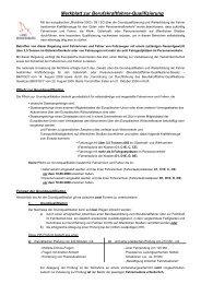 Merkblatt Berufskraftfahrer-Qualifikation - Landkreis Havelland