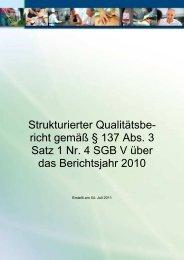 Qualitätsbericht 2010 der Havelland Kliniken GmbH - KTQ