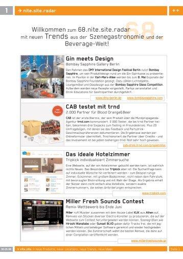 Willkommenzum 68.nite.site.radar mit neuen Trends aus der - brand.m