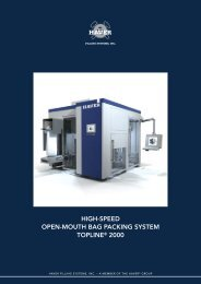 high-speed open-mouth bag packing system topline® 2000