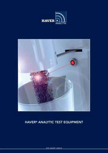 HAVER® ANALYTIC TEST EQUIPMENT - Haver Filling Systems, Inc.