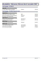 Resultatliste - Horsens Kajakklub