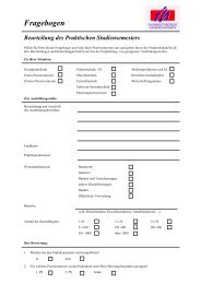 Freiwillige Bewertung bzw Fragebogen zur Praktikumsfirma