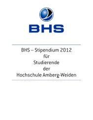 BHS-Stipendium Ausschreibung_2012 - Hochschule Amberg-Weiden