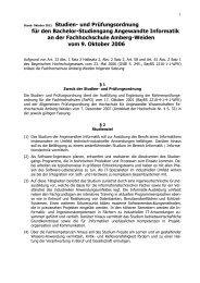 Angewandte Informatik - Hochschule Amberg-Weiden