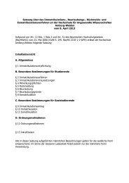 Immatrikulationssatzung - Hochschule Amberg-Weiden