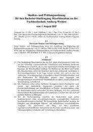 Maschinenbau - Hochschule Amberg-Weiden