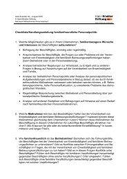 Checkliste/Handlungsanleitung familienfreundliche Personalpolitik: