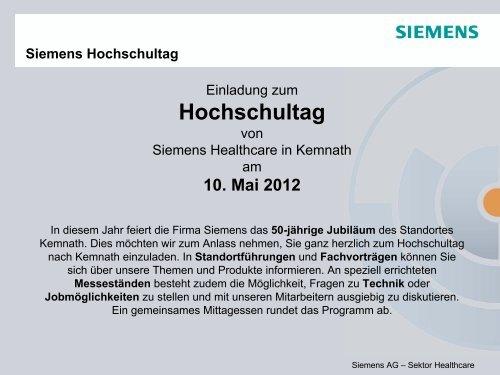 Siemens Hochschultag