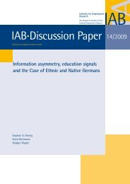 Information asymmetry, education signals and the Case of ... - IAB