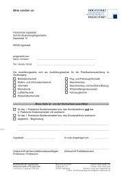 Bitte senden an: - Hochschule Ingolstadt