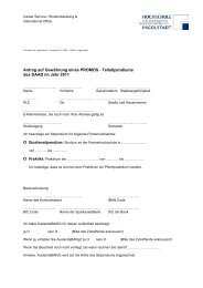 Stipendienbewerbungsformular PROMOS_2011 - Hochschule ...
