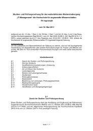 Studien- und Prüfungsordnung für den weiterbildenden ...