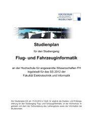 Studienplan Flug- und Fahrzeuginformatik - Hochschule Ingolstadt