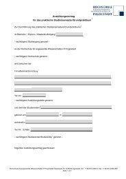 Ausbildungsvertrag für das praktische Studiensemester ...