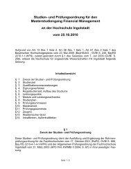 SPO Master Informatik - Hochschule Ingolstadt