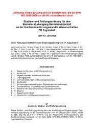 Studien- und Prüfungsordn - Hochschule Ingolstadt