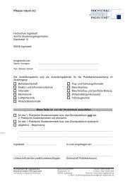 Please return to: - Hochschule Ingolstadt