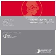 Wintersemester 2012/13 - Heidelberger Akademie der Wissenschaften