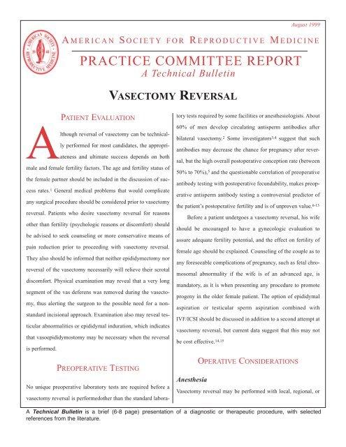Vasectomy Reversal (PDF)