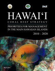 Hawaii Coral Reef Strategy: Priorities for Management in the Main ...