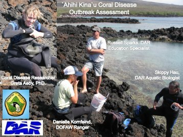 Outbreak of the coral disease, Montipora White Syndrome in Maui ...
