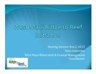 View Presentation >> PDF - Hawaii Coral Reef Strategies