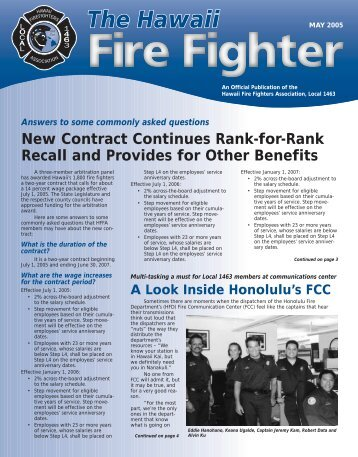 May 2005 - Hawaii Fire Fighters Association